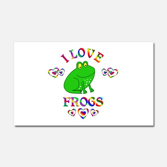 I Love Frogs Car Magnet 20 x 12