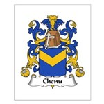 Chenu Family Crest Small Poster