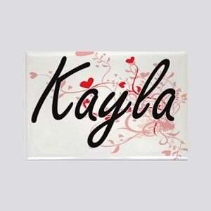 Kayla Artistic Name Design with Hearts Magnets