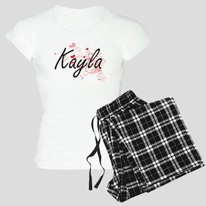 Kayla Artistic Name Design Women's Light Pajamas