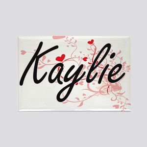 Kaylie Artistic Name Design with Hearts Magnets