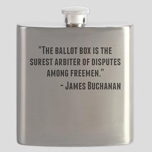 James Buchanan Quote Flask