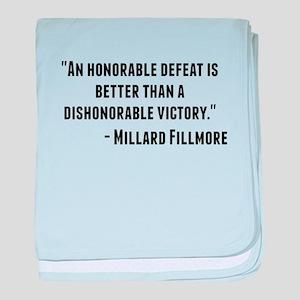 Millard Fillmore Quote baby blanket