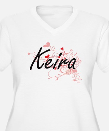 Keira Artistic Name Design with Plus Size T-Shirt