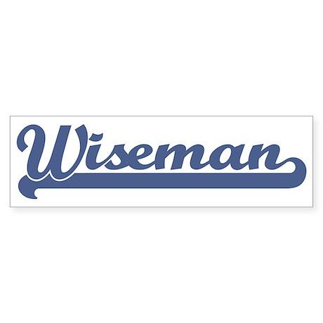 Wiseman (sport-blue) Bumper Sticker