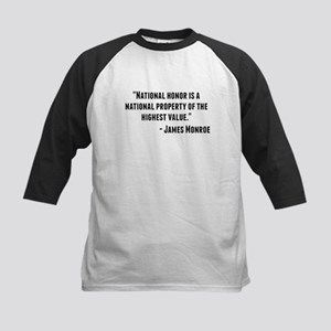 James Monroe Quote Baseball Jersey