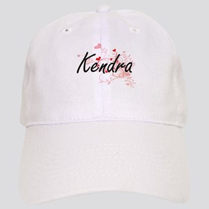Kendra Artistic Name Design with Hearts Cap