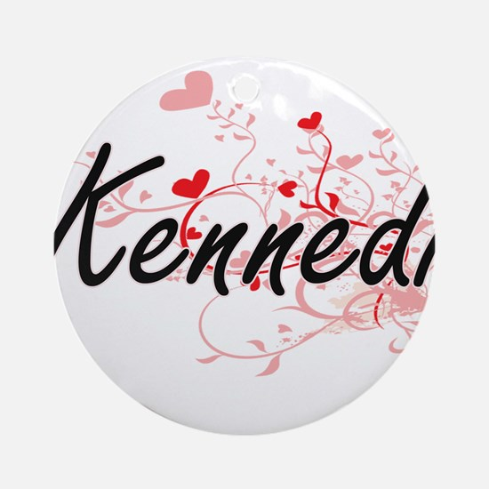 Kennedi Artistic Name Design with Ornament (Round)