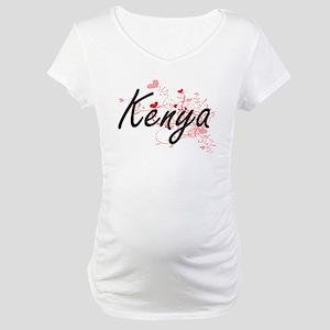 Kenya Artistic Name Design with Maternity T-Shirt