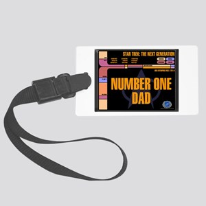 Number One Dad Large Luggage Tag