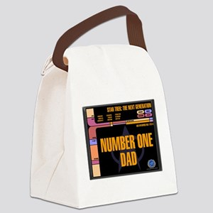 Number One Dad Canvas Lunch Bag