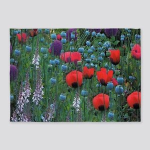 Mixed Flowers 5'x7'Area Rug