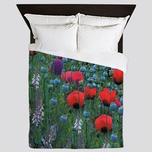 Mixed Flowers Queen Duvet