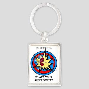 Super Kidney Donor Portrait Keychain