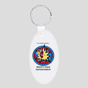 Super Kidney Donor Aluminum Oval Keychain