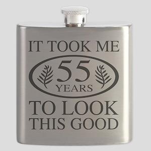 Funny 55th Birthday Flask