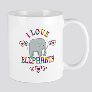 I Love Elephants Mug