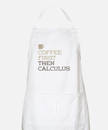 Coffee Then Calculus Apron
