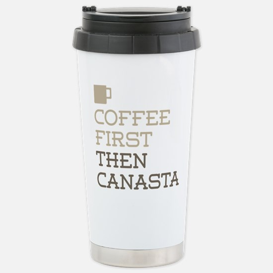 Coffee Then Canasta Stainless Steel Travel Mug