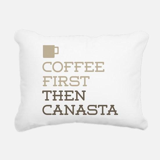 Coffee Then Canasta Rectangular Canvas Pillow