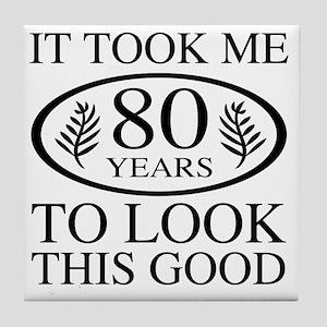 Funny 80th Birthday Tile Coaster