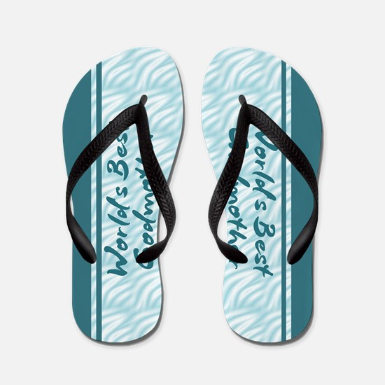 World's Best Godmother Flip Flops