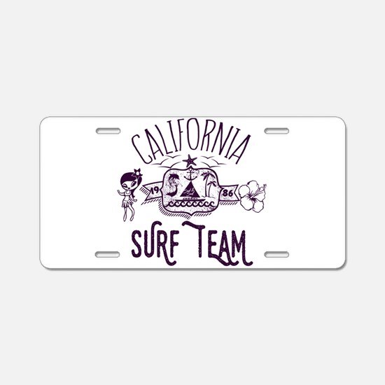 California Surf Team Aluminum License Plate