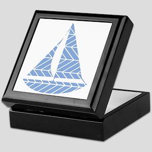 Chevron Sailboat Keepsake Box
