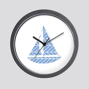Chevron Sailboat Wall Clock