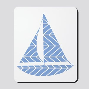 Chevron Sailboat Mousepad