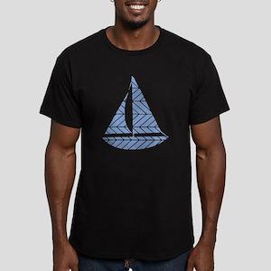 Chevron Sailboat Men's Fitted T-Shirt (dark)