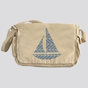 Chevron Sailboat Messenger Bag