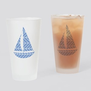 Chevron Sailboat Drinking Glass
