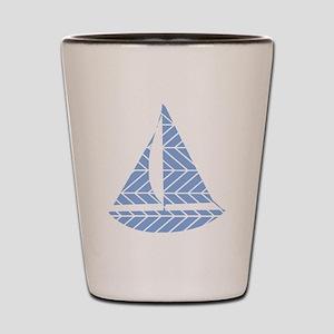 Chevron Sailboat Shot Glass