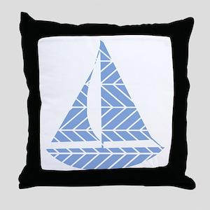 Chevron Sailboat Throw Pillow