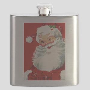 Vintage Christmas Jolly Santa Claus Flask