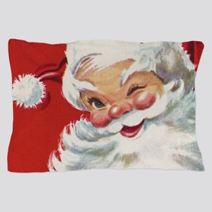 Vintage Christmas Jolly Santa Claus Pillow Case