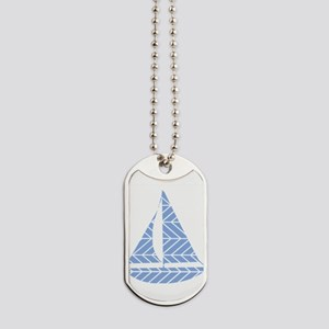Chevron Sailboat Dog Tags