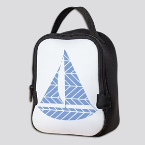 Chevron Sailboat Neoprene Lunch Bag