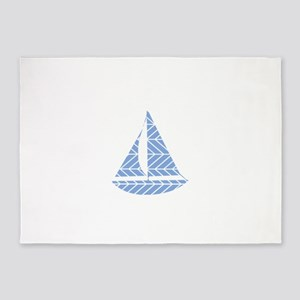 Chevron Sailboat 5'x7'Area Rug