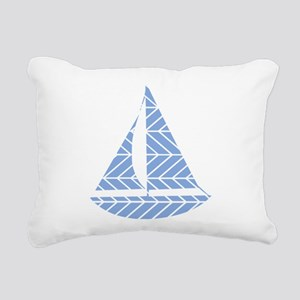 Chevron Sailboat Rectangular Canvas Pillow