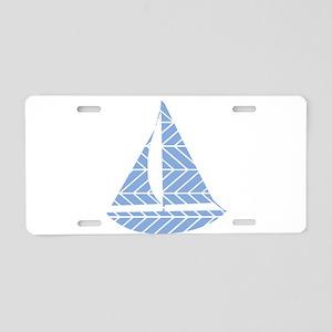 Chevron Sailboat Aluminum License Plate