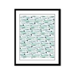 Manatees and Dugongs Swimming Framed Panel Print
