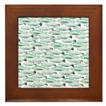 Manatees and Dugongs Swimming Framed Tile