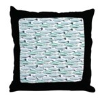 Manatees and Dugongs Swimming Throw Pillow