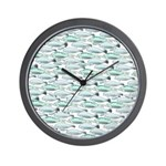 Manatees and Dugongs Swimming Wall Clock