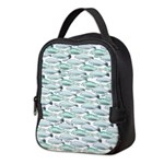Manatees and Dugongs Swimming Neoprene Lunch Bag