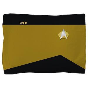 Star Trek: TNG Gold Lt. Cmdr. Pillow Sham