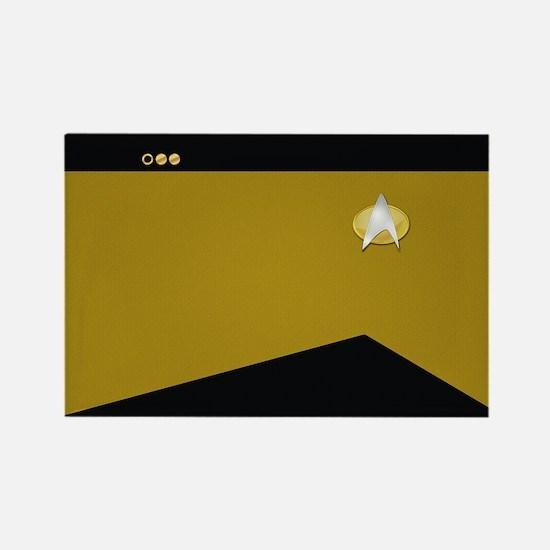Star Trek: TNG Gold Lt. Cmdr. Rectangle Magnet