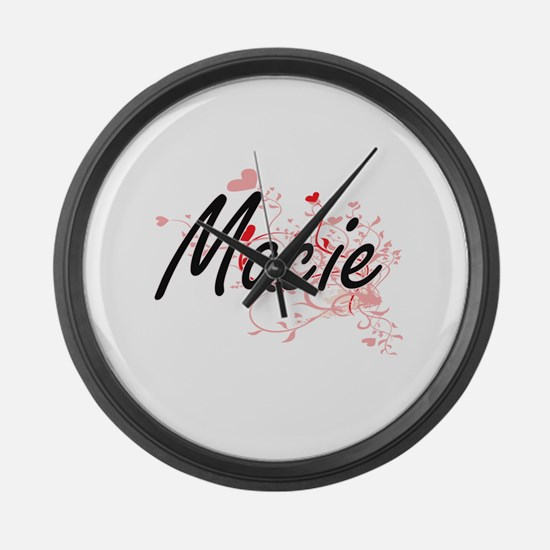 Macie Artistic Name Design with H Large Wall Clock